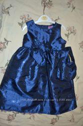 Очаровательное, нарядное платье на 12 мес новое