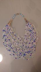 Ожерелье, колье паутинка handmade