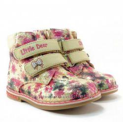 ботинки демисезонные B&G, LITTLE DEER, р 22-27 разные модели для девочек