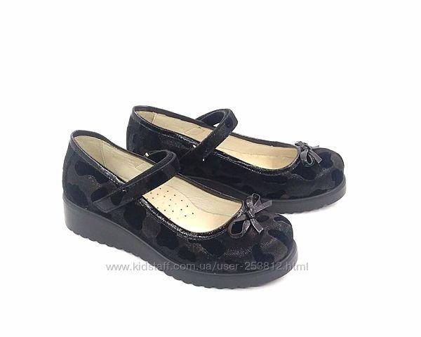 Туфли кожаные для девочки р. 31, 34, 35 распродажа