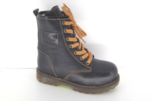 Зимние кожаные ботинки для мальчиков р. 27-30