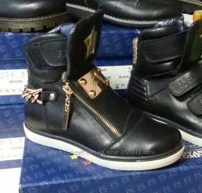 Зимние кожаные ботинки для девочки FS р. 33 - 21см