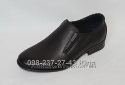 туфли школьные  р. 32 - 39 кожаные, в наличии