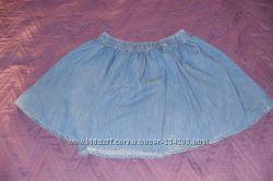 Очень красивая легкая джинсовая юбка на рост 152-158