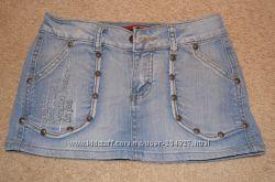 Хорошенькая джинсовая юбочка XS на худенькую девушку или подростка