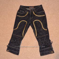 Джинсовые брижди с золотой вышивкой размер 25