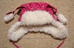 Непродуваемая и очень теплая зимняя шапочка на девочку. 1-3 года 50 см