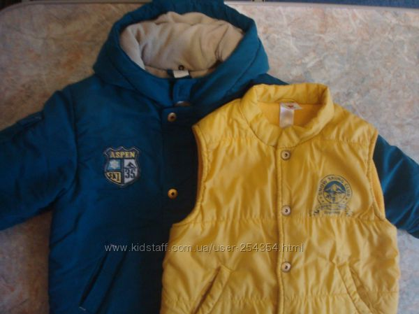 Куртка и жилетка демисезонная для мальчика  BABY CLUB
