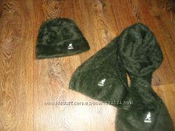 Kangol, набор ангоровый шапка и шарф