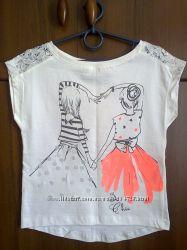 Красивая и нарядная футболка-блузка ТМ Cool Club, хлопок