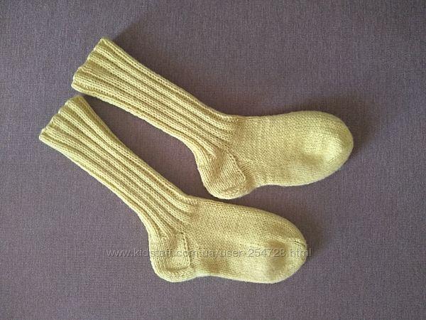 Носочки вязаные шерстяные, хенд-мейд