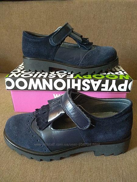 Туфли кожаные Woopy, идеальное состояние, недорого