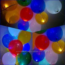 гелиевые шары со светодиодами в г. Вышгород. оформляем праздник,
