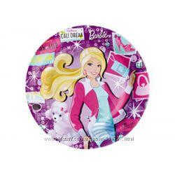 Одноразовая посуда Barbie Fashion. Производитель Америка Amscan