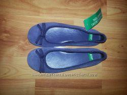 Балетки натуральный замш- Benetton Италия Старая цена