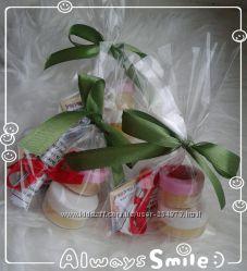 Натуральний набір для догляду за губами бальзам та скраб ЖасминАпельсин
