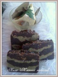 Мило ручної роботи М&180ятний шоколад