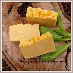 Мило для дитячої та чутливої шкіри Календула з бджолиним воском