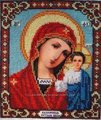 Икона Матерь Божья Казанская вышивка бисером