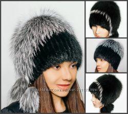 Шикарные теплые шапки из натурального меха Ондатры
