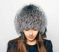 Шапки Сноп из Натурального меха Чернобурки лисы