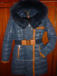 Зимняя курточка, размер М. Натуральный мех.