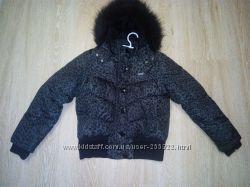 Теплая NEXT курточка на 10-12 лет.
