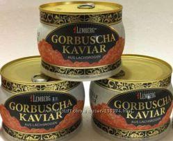 Очень вкусная Красная икра пород лососевых горбуши ТМ Lemberg
