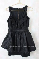 Шикарное брендовое платье с баской Miss Selfridge