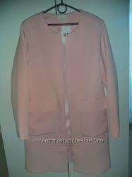 H&M кардиган розовая пудра пальто 12р М