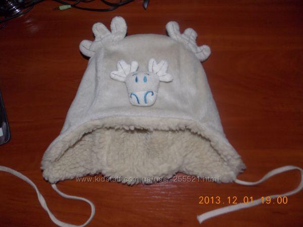 Прикольная теплая шапочка TUTU  р. 48-50