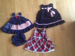 Платье-сарафаны на 12мес. США