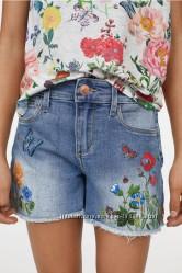 Джинсовые шорты H&M, 10-14 лет