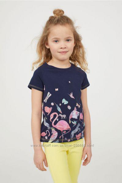 Супер яркие футболочки для девочек, 4-10 лет