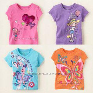 Яркие футболочки для принцес от 1-х до 6-ти