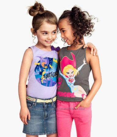 Яркие фирменные футболочки для принцесс, от 3-х до 6-ти