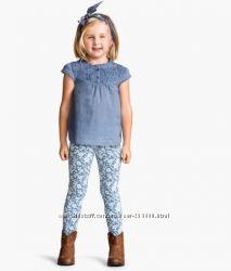 Красивые фирменные треггинсы для девочек 4-10 лет, плотные