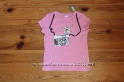Хлопковые футболочки для девочек 4, 5, 6 лет.