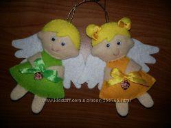Ангелочки из фетра, hand-made