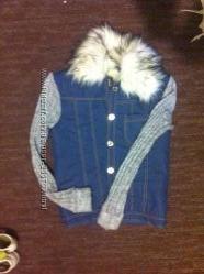 Стильная джинсовая куртка.
