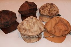 Распродажа остатков новые кожаные кепки
