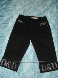 Бриджи джинсовые девочковые демисезонные под сапожки