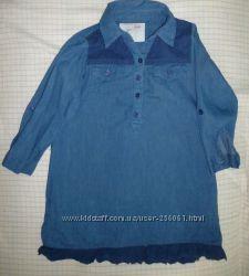 Джинсовое платье-туника р. 104