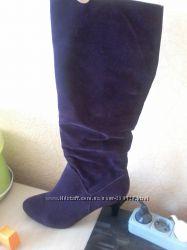 Новые элегантные сапоги цвет бургунд 39 и 40 размеры, срочная ликвидация