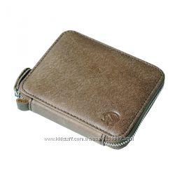 Коричневый мужской кожаный винтажный портмоне кошелек бумажник на молнии, н
