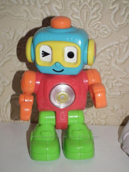 Робот, светится, издает звуки, мигает