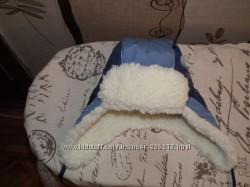 Зимняя шапка р. 52-54, сост новое, не носили, на 2-4 года