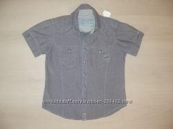 Рубашка джинсовая рост122-128  новая