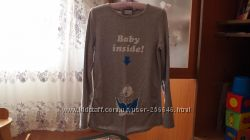Продам супер футболку с длинным рукавом для беременных