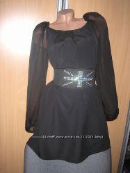 Модное платье с шифоновыми рукавами AX Paris